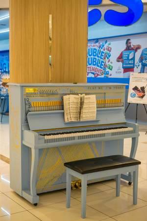 Ein schönes Klavier im Lot 10 Einkaufszentrum in Kuala Lumpur