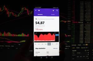 Ein Smartphone zeigt den Toronto-Dominion Bank Marktwert