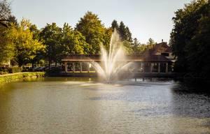 Ein Springbrunnen in Maribor - Slovenien