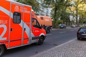 Ein Transporter der Berliner Feuerwehr