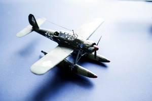 Ein Wasserflugzeug als Spielzeug