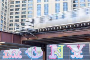 Ein Zug der Chicago Transit Authority