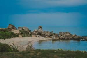 Eine Bucht an der Ostsee
