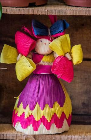 Eine traditionelle Honduras Souvenir-Puppe