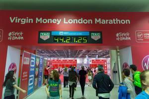 Eingang zur London Marathon Messe