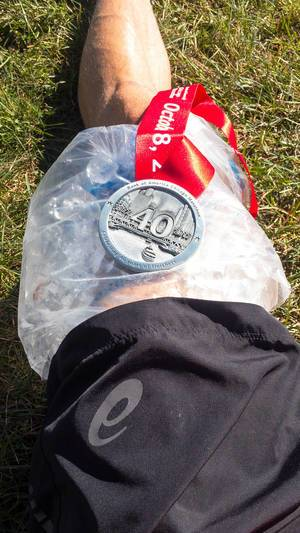 Eiskühlung nach dem Chicago-Marathon