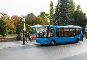 Electric bus in Budapest