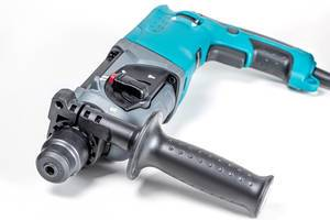 Electric hammer drill on a white background