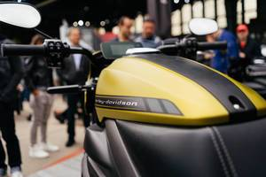 Electric Harley Davidson Livewire in closeup