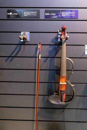 Electric Instruments by Yamaha: SV-250 Silent Violin and string for professional musicians