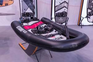 Elektrisches Surfboard mit Gummiring-Zubehör für mehr Stabilität und Auftrieb für Beginner und Kinder