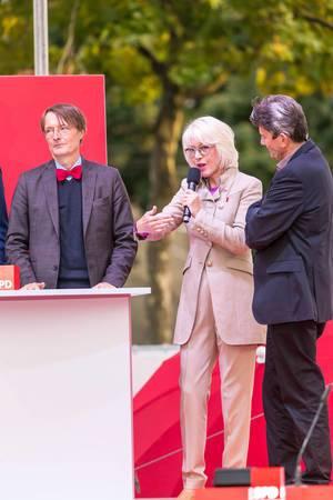 Elfi Scho-Antwerpes, Dr. Rolf Mützenich und Prof. Dr. Karl Lauterbach