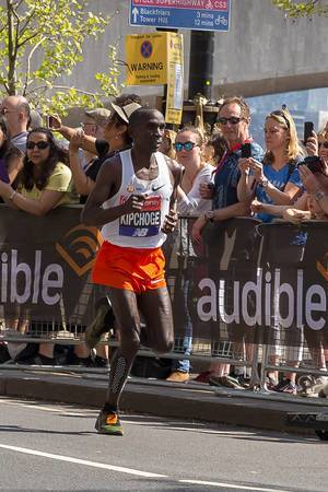 Elite runner Eliud KIPCHOGE - London Marathon 2018