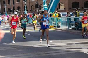 Elkanah Kibet, David Carver und weitere Läufer (Marathon Finale) bei den IAAF Leichtathletik-Weltmeisterschaften 2017 in London