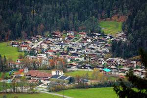 Ellmau, Tirol, Austria, seen from above