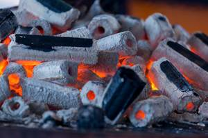 Embers on a huge barbecue at Gamescom 2018