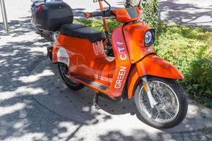 Emmy electric scooter for rent in Munich, Germany for a greener city experience