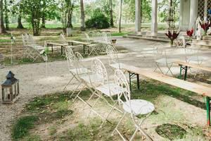 Empty Seats At A Wedding Venue