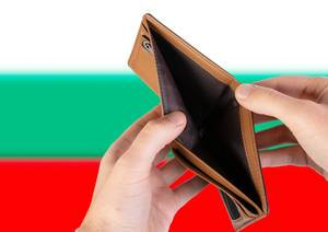 Empty Wallet with Flag of Bulgaria. Recession and Financial Crisis to come with more debt and federal budget deficit?