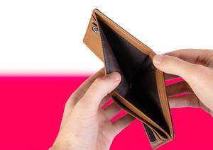 Empty Wallet with Flag of Monaco. Recession and Financial Crisis to come with more debt and federal budget deficit?