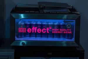 Energiegetränk effect in einem Displaykühlschrank von Gastro-Cool
