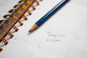 English Exam schedule in Calendat