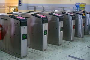 Entrance Gates of Kuala Lumpur Train System