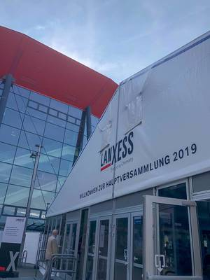 Entrance to the Lanxess shareholders
