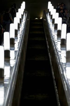 Escalator in Moscow metro