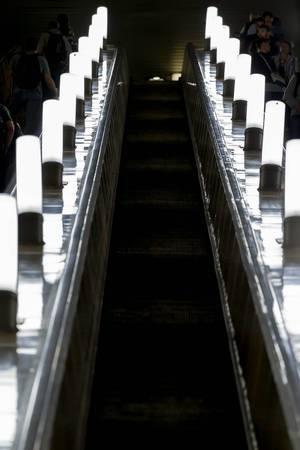Escalator in Moscow metro
