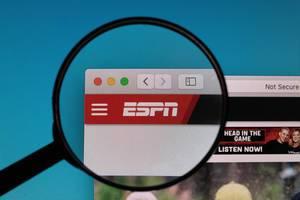 ESPN logo under magnifying glass