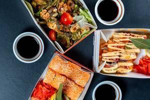 Essen in Boxem vom China Restaurant - Aufsicht