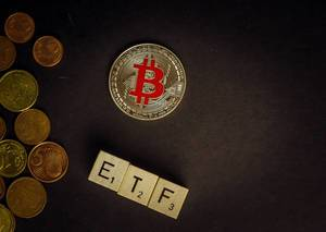 ETF and Bitcoin concept