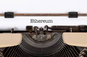 Ethereum printed on an old typewriter
