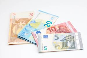 Euro Money on a White Background
