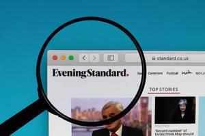 Evening Standard logo under magnifying glass
