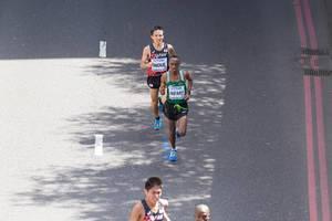 Ezekiel Jafary und Hiroto Inoue (Marathon Finale) bei den IAAF Leichtathletik-Weltmeisterschaften 2017 in London