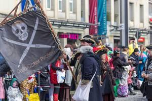 Fahne der Dellbrücker Piraten - Kölner Karneval 2018