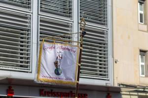 Fahne der Großen Allgemeinen Karnevalsgesellschaft von 1900 - Kölner Karneval 2018