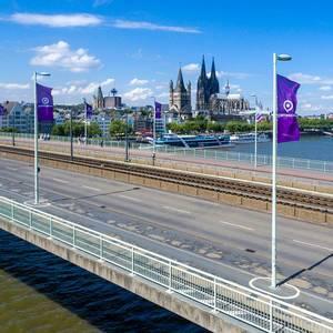 Fahnen zur Gamescom 2017 in Köln
