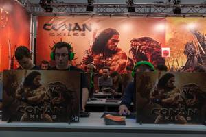Fair visitors playing Conan Exiles