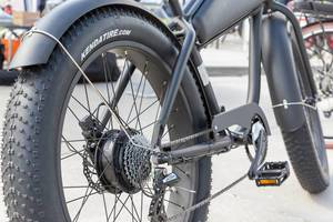 Fat tire electric bike by Kendatire at the E-Cologne outdoor trade show for sustainable transportation