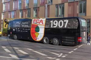 FC Augsburg team bus