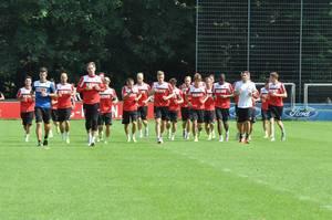 FC beim Training