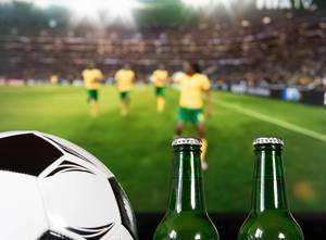 Fernsehübertragung eines Fußballspiels