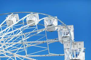 Ferris wheel, close-up view