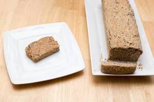 Fertig gebackenes Chia-Brot
