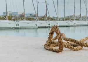 Festmacherleine eines Segelboots