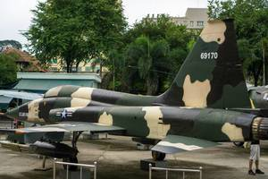 Fighter Jet in front of the War Remnants Museum in Saigon