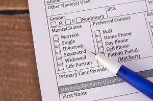 Filling out Marital Status on a form